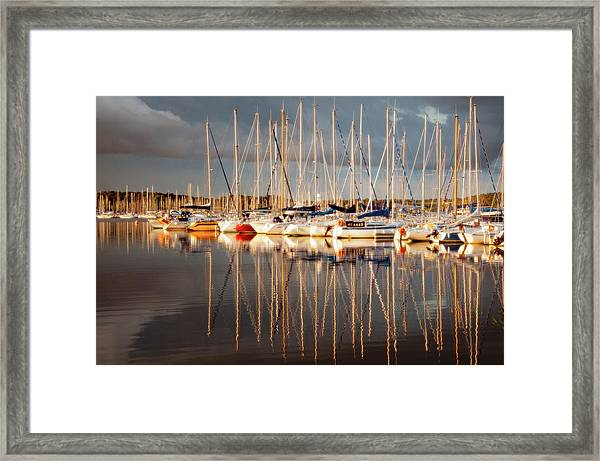 Marina Sunset 6 Framed Print