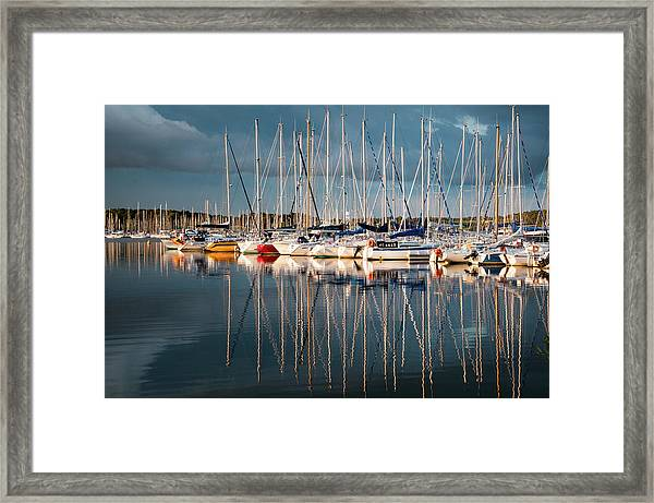 Marina Sunset 7 Framed Print