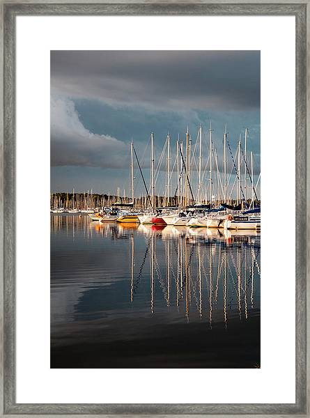 Marina Sunset 9 Framed Print