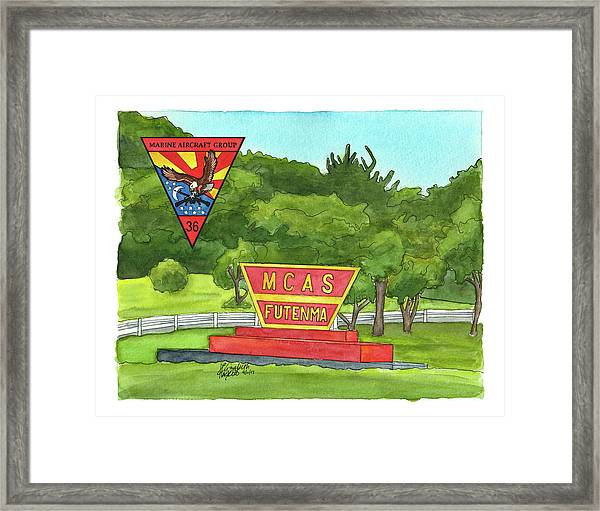 Marine Aircraft Group At Mcas Futenma Framed Print