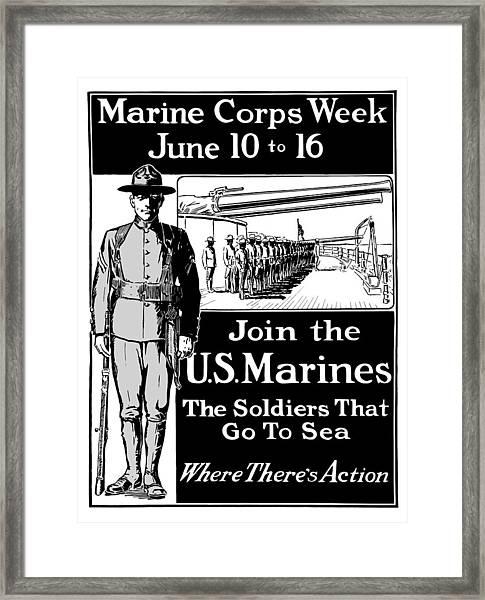 Marine Corps Week - Ww1  Framed Print