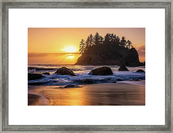 Marine Layer Sunset At Trinidad, California Framed Print