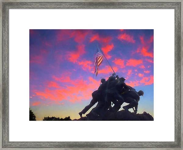 Marines At Dawn Framed Print