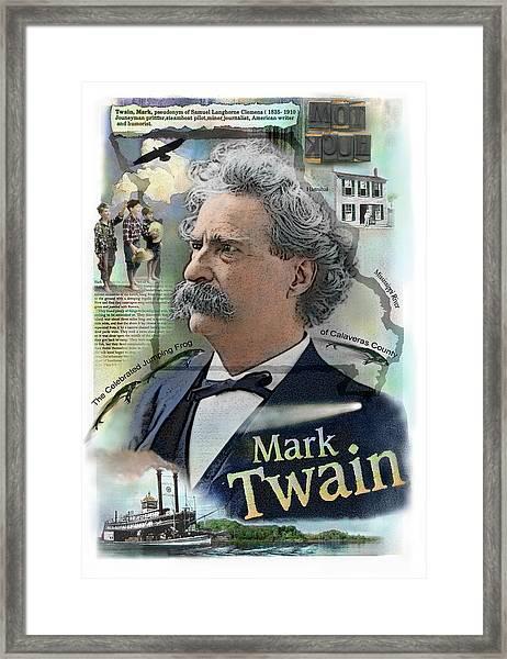 Mark Twain Framed Print
