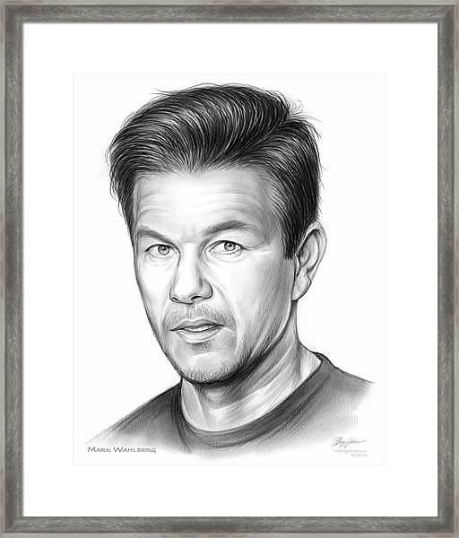 Mark Wahlberg Framed Print