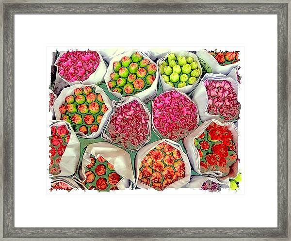 Market Flowers - Hong Kong Framed Print