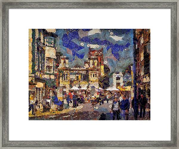 Market Square Monday Framed Print