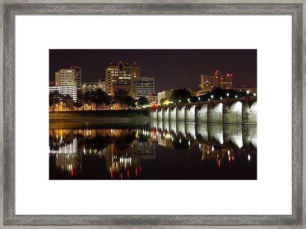 Market Street Bridge Reflections Framed Print