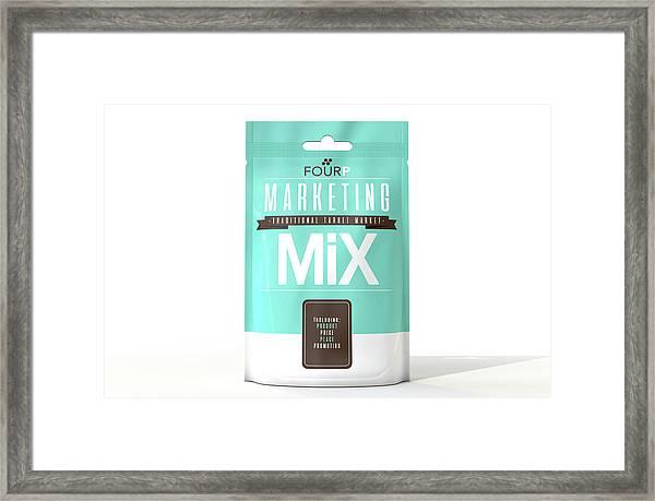 Marketing Mix 4 P's Framed Print