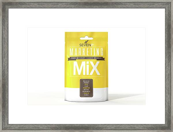 Marketing Mix 7 P's Framed Print