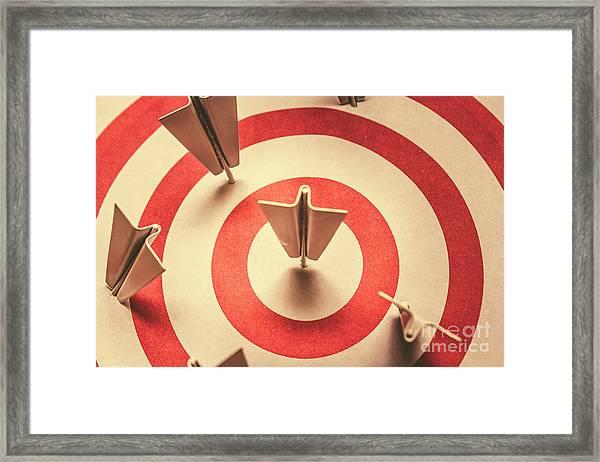 Marketing Your Target Market Framed Print
