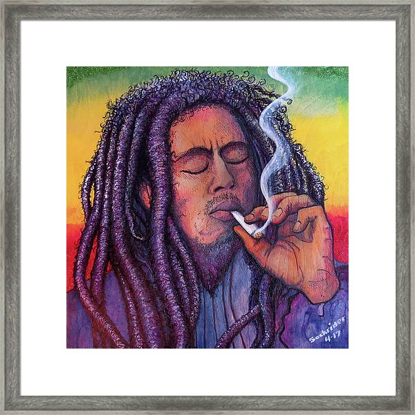 Marley Smoking Framed Print