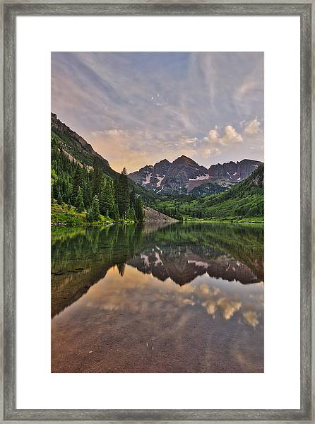 Maroon Bells Sunset - Aspen - Colorado Framed Print