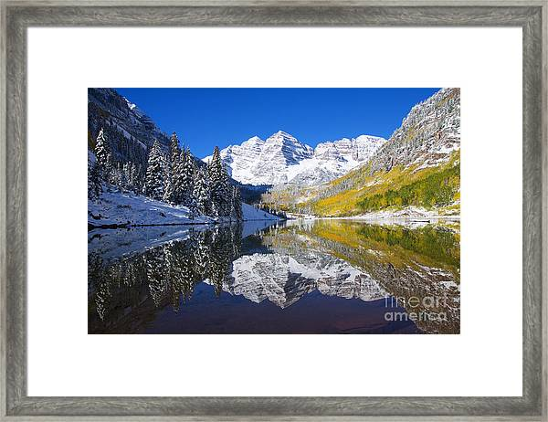 Maroon Lake And Bells 1 Framed Print