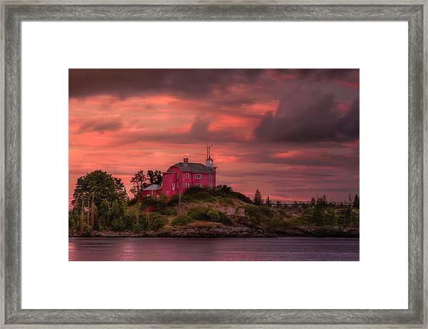 Marquette Harbor Lighthouse Framed Print