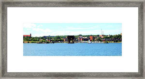 Marquette Michigan Harbor One Framed Print