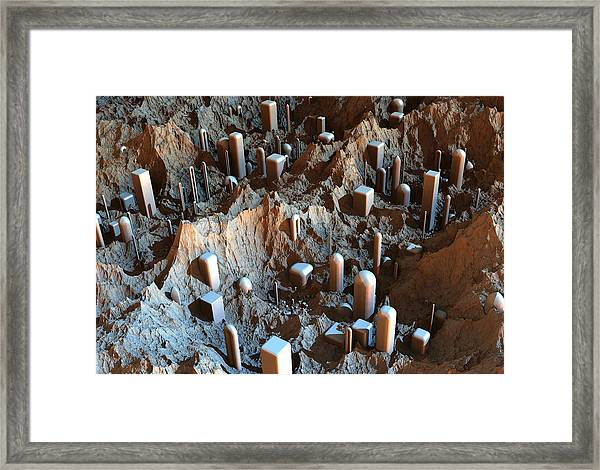Mars Colony One Framed Print