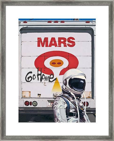 Mars Go Home Framed Print
