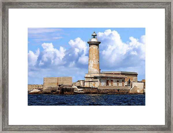 Marsala Lighthouse Framed Print