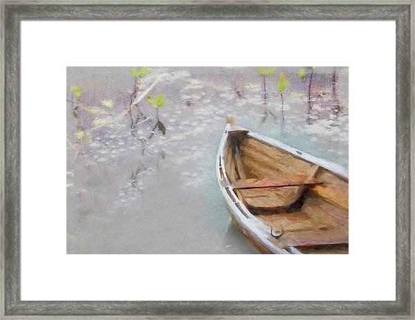 Marsh Dory Framed Print