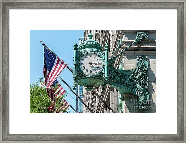 Marshall Field's Clock Framed Print