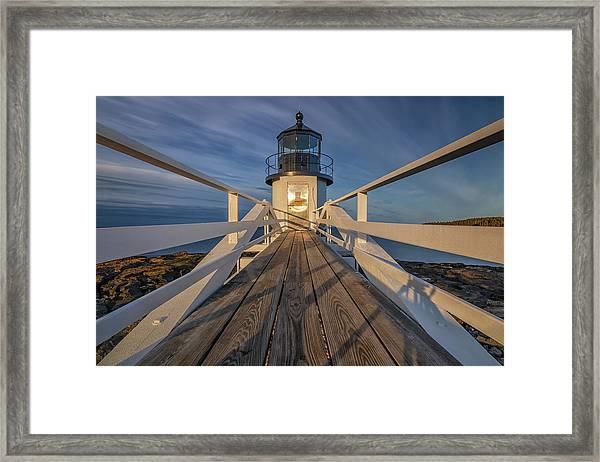 Marshall Point Lighthouse At Sunrise Framed Print