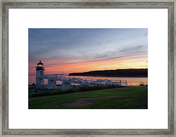Marshall Point Lighthouse, Port Clyde, Maine -87444 Framed Print