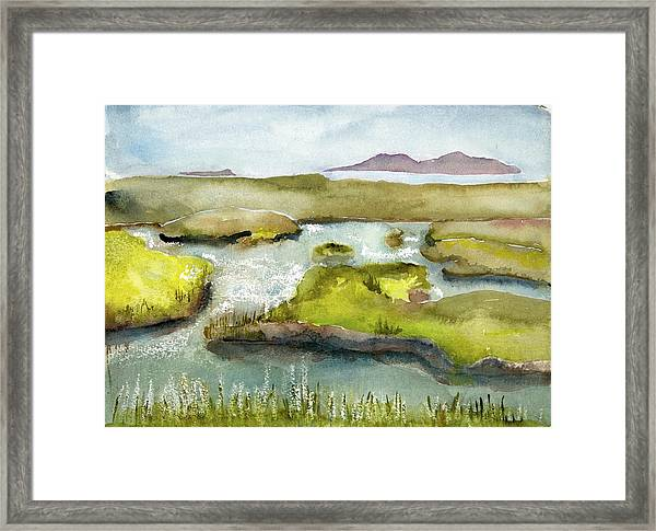 Marshes With Grash Framed Print