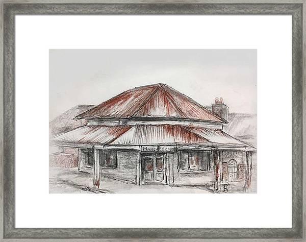 Marsh's Corner Store Framed Print