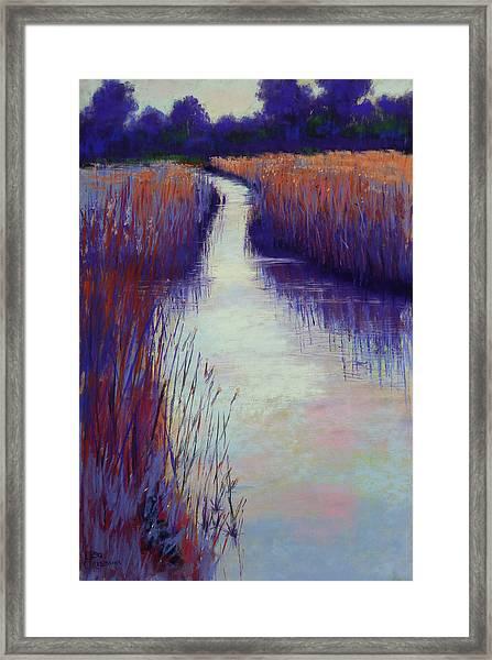 Marshy Reeds Framed Print