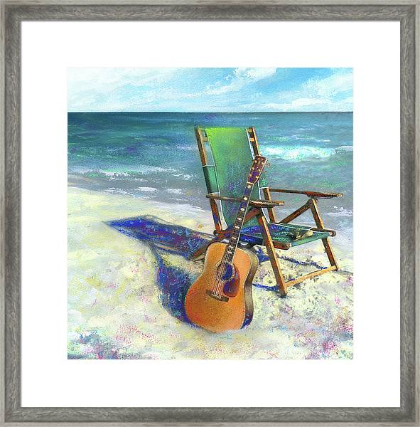 Martin Goes To The Beach Framed Print