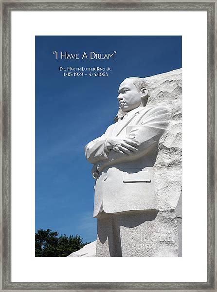 Martin Luther King Jr. Monument Framed Print