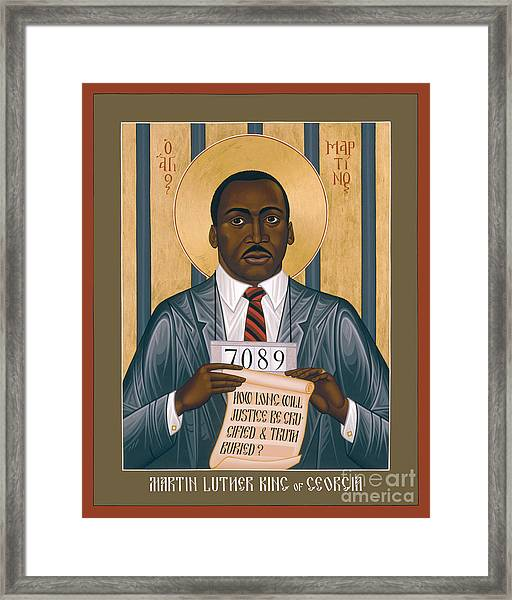 Martin Luther King Of Georgia  - Rlmlk Framed Print
