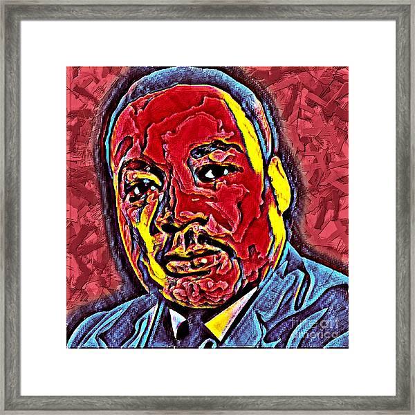 Martin Luther King Jr. Portrait Framed Print