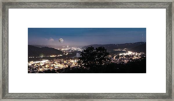 Martins Ferry Night Framed Print