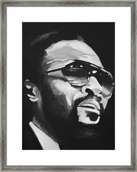 Marvin Gaye II Framed Print by Mikayla Ziegler