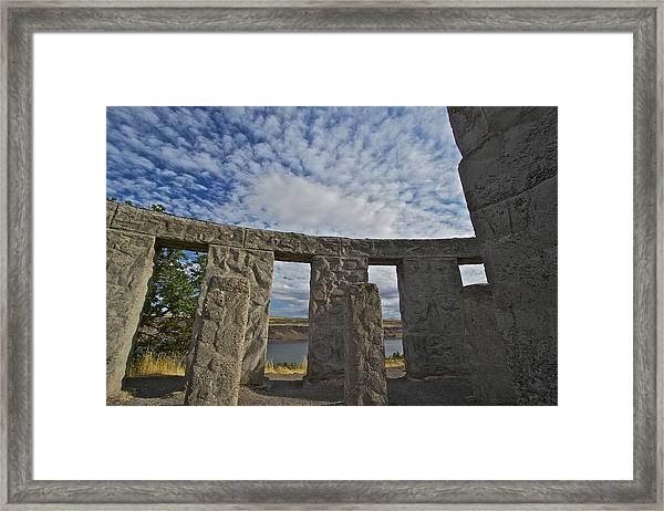 Maryhill Stonehenge 11 Framed Print