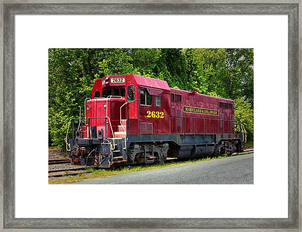 Maryland And Delaware Engine 2632 Framed Print