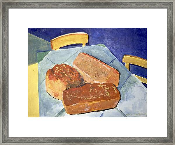 Mary's Bread Framed Print