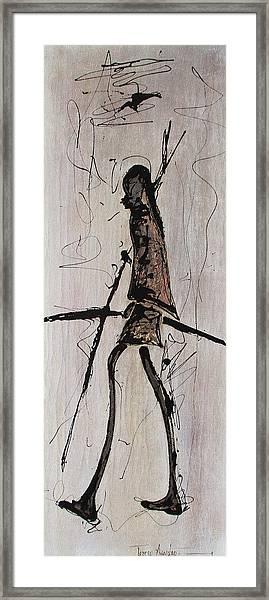 Masai Family - Part 2 Framed Print
