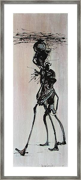 Masai Family - Part 3 Framed Print