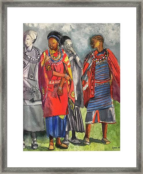 Masai Women Framed Print