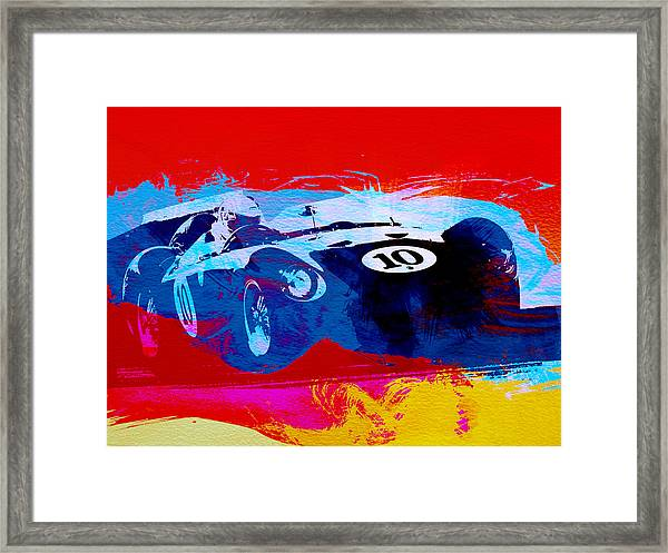 Maserati On The Race Track 1 Framed Print