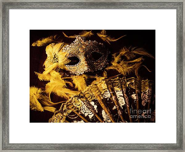 Mask Of Theatre Framed Print