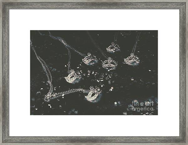 Masks From The Dark Carnival Framed Print