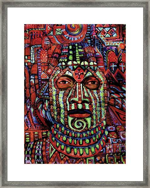 Masque Number 3 Framed Print