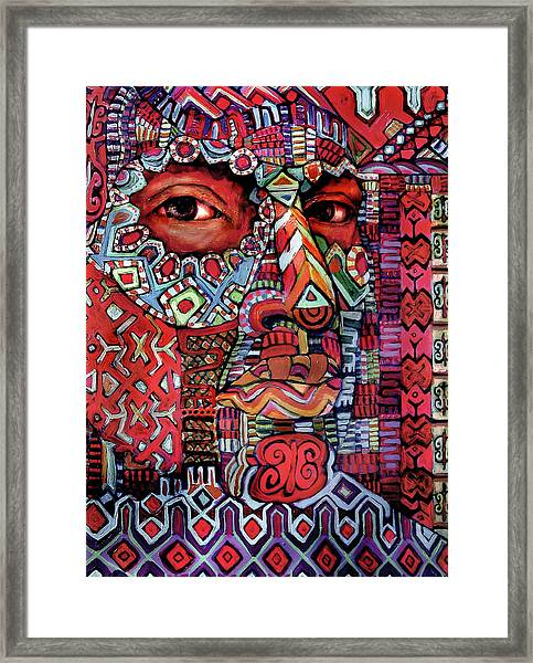 Masque Number 4 Framed Print