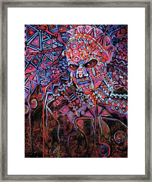 Masque Number 5 Framed Print