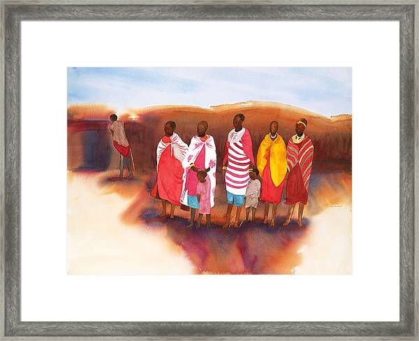 Massai Mommas Framed Print
