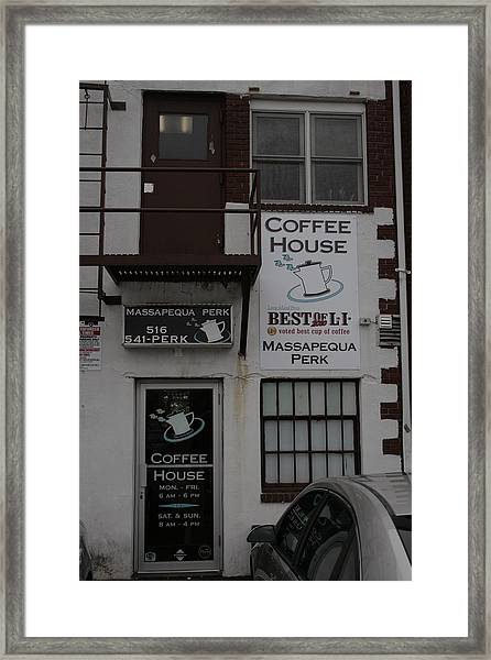 Massapequa Perk Home Of Jack Rice Coffee Framed Print